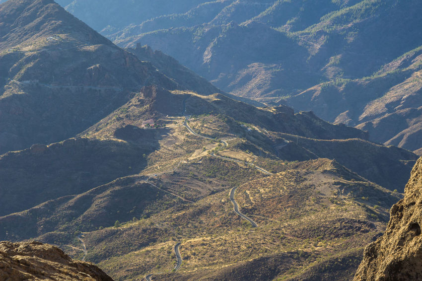 Beautiful Nature Canary Islands Gran Canaria Gran Canary Island Nature Perspectives On Nature Beauty In Nature High Angle View Landscape Landscapes Mountain Mountain Range Nature Curvy Road