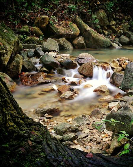 small waterfall Waterfall Gunungpulai Nature Water Outdoors No People Rock - Object Day Beauty In Nature