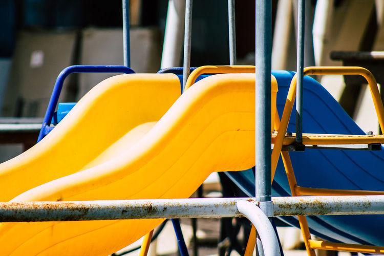 Close-up of play equipment at playground