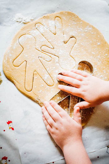 Baking Biscuits Child Creativity Gingerbreadman Handmade Homebaking Homemade