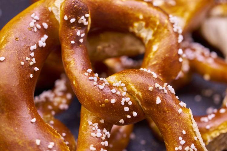 Close up of pretzels