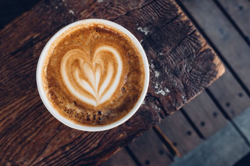 Coffee late on a wooden bench Coffee And Cigarettes Wooden Background Wooden Texture Latepost Coffee Break Coffee Coffee Cup Cafe Coffee Late Hot Drink Brown Table Cappuccino Close-up Mug Frothy Drink High Angle View No People Froth Art Food