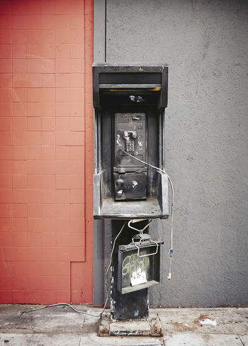 Building Exterior Built Structure Communication Connection Day DowntownLA Dysfunctional No People Old-fashioned Outdoors Pay Phone Streetphotography Technology Telephone Telephone Booth Wall - Building Feature AI Now