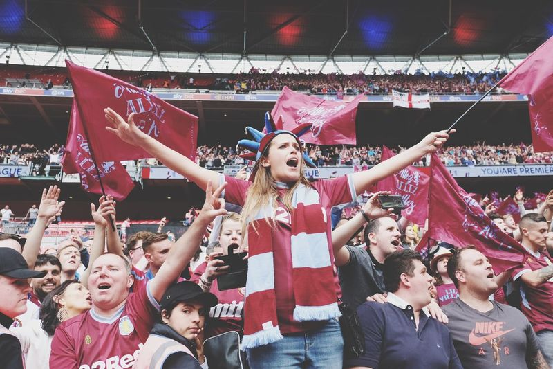 Aston Villa Supporter at Wembley Group Of People Celebration Happiness Crowd Real People Emotion The Portraitist - 2019 EyeEm Awards
