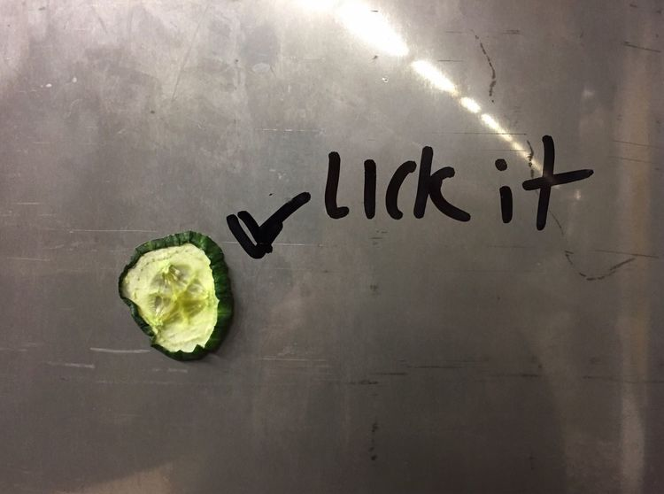 Text Close-up No People Communication Indoors  Reflection Light Cucumber Performing Arts Lick Iphone 6 Funny Reeperbahn