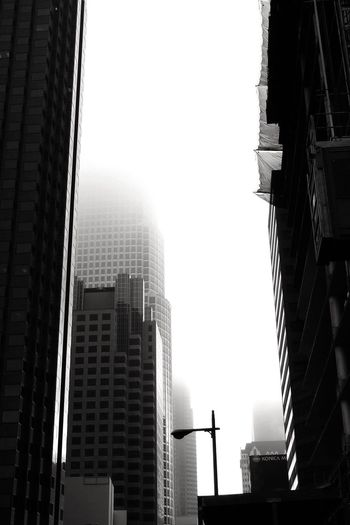 Los Angeles, California Los Ángeles DowntownLA Black And White Black And White Collection  Blackandwhite Photography Architecture Architectural Photography Downtown Los Angeles Scenes Of Los Angeles Los Angeles Skyline Los Angeles Architecture Los Angeles! Southern California Morning Fog...