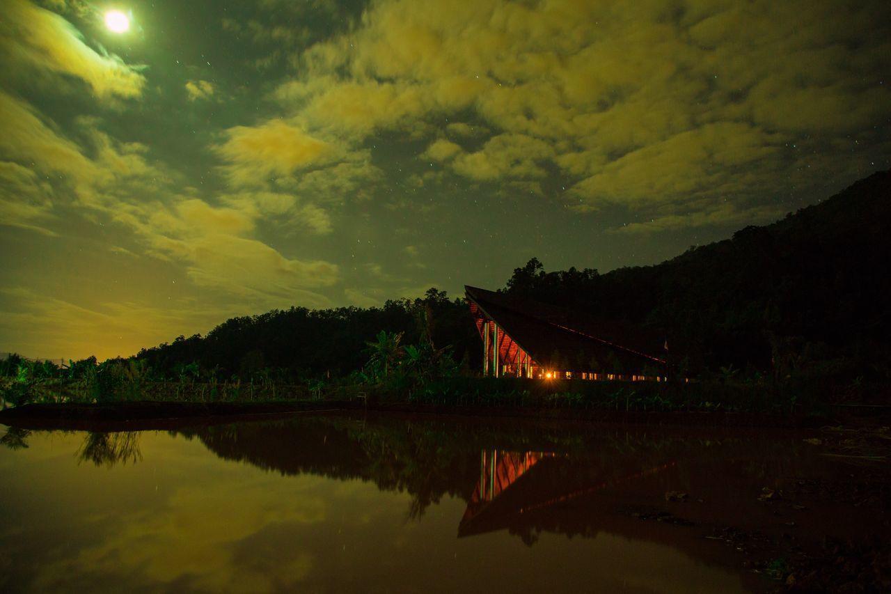 VIEW OF LAKE AT NIGHT