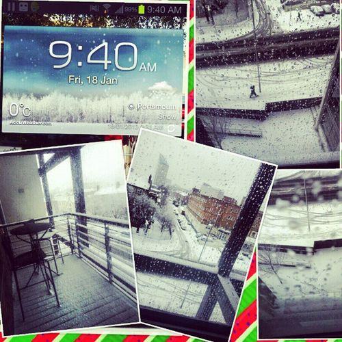 Snow snow snow!!!! :D Snow Portsmouth Freezing 0o UniOfPortsmouth Alenezi91