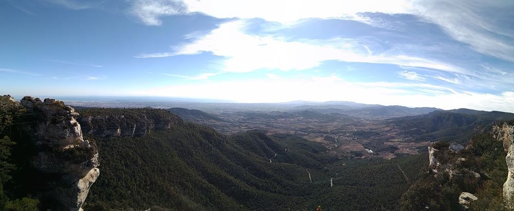 Sun SPAIN Panorama Tree Mountain Pinaceae Pine Tree Forest Winter Sky Landscape Cloud - Sky Valley Mountain Peak Physical Geography Rock Formation Canyon
