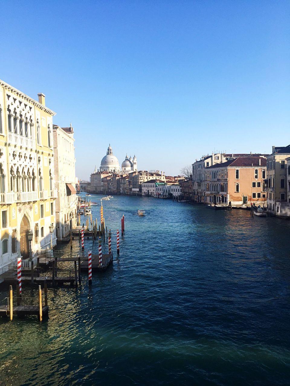 Canal and Santa Maria della Salute in Venice