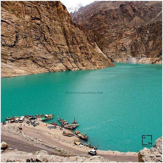 Attabad Lake Created in January 2010 by a landslide dam. Attabad Lake Hunza Gilgit Gilgitbaltistan Water Aqua Pakistan Beautifulvalley Boats @our_beautiful_country_pakistan @picsofpakistan @travelbeautifulpakistan @hellopakistan Dawndotcom Ghalibhasnain Ghalibhasnainphotography