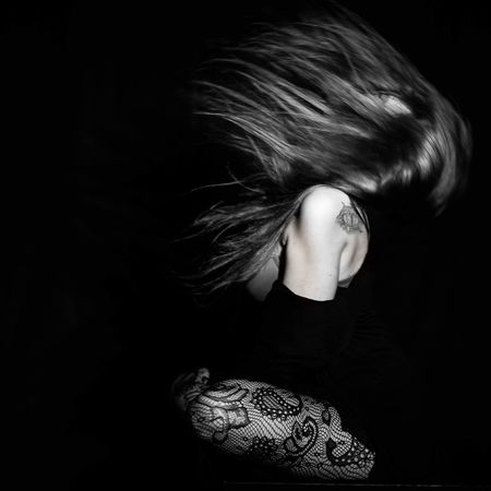 Black Background One Person Adults Only Adult People Only Women One Woman Only Studio Shot Human Body Part Women One Young Woman Only Young Adult Indoors  Young Women Close-up Day EyeEm Selects EyeEm Best Shots Long Hair EyeEm Gallery Fashion Eyevision. Beautiful People Movement Monochrome EyeEmNewHere
