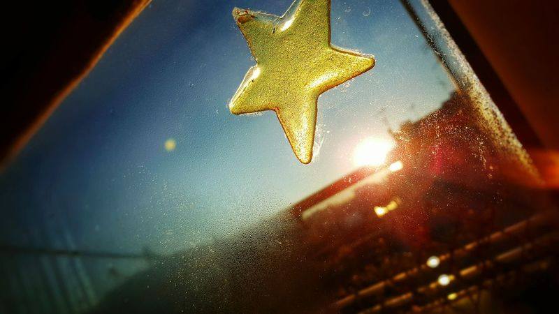 Christmas Around The World Star Window Stickers Morning Light Creative Light And Shadow Cold Outside