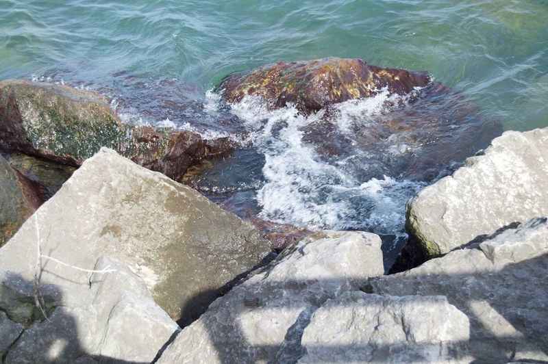 Water Rock - Object Nature No People Day Outdoors Wave Beauty In Nature The Great Outdoors - 2017 EyeEm Awards Close-up Rocks Lake Waterfront Tranquility Water Hitting Rocks