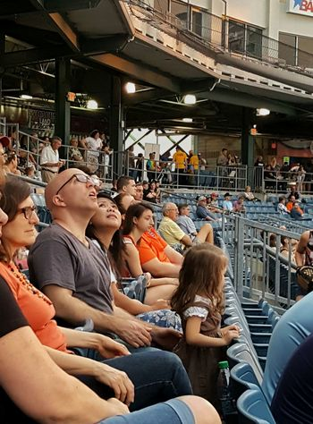 Ballgame Baseball Game Crowd Day Family Large Group Of People Leisure Activity Lifestyles Looking Up Men Sitting Sports Stadium