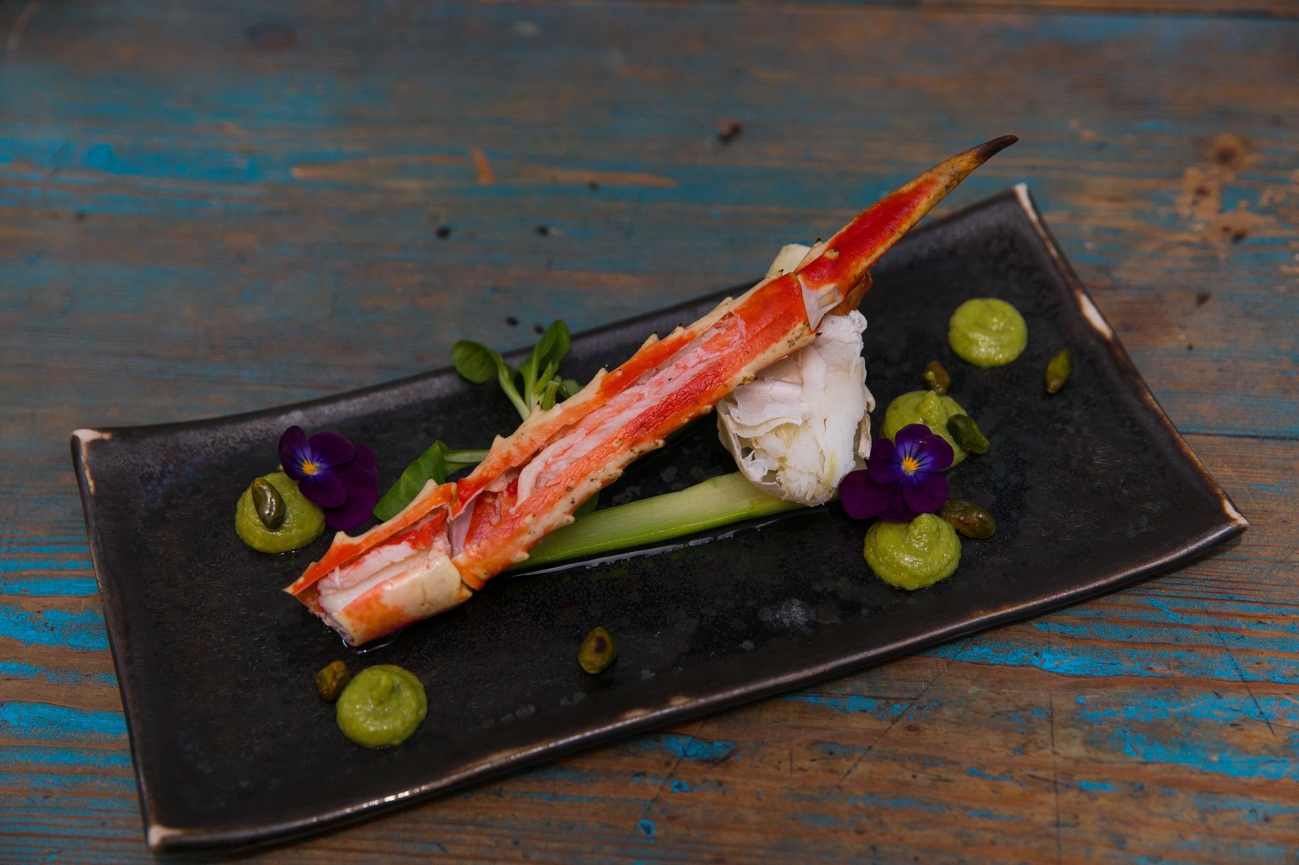food, food and drink, healthy eating, freshness, wellbeing, seafood, vegetable, wood - material, table, no people, ready-to-eat, still life, indoors, close-up, plate, slice, serving size, high angle view, fruit, crustacean, tray, chopped, japanese food