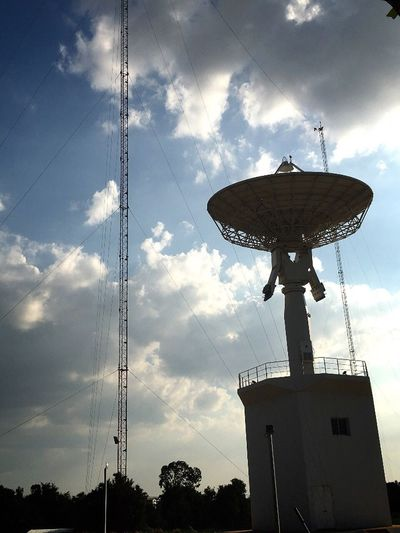 Sky And Clouds Satellite Dish Communication Global Communications