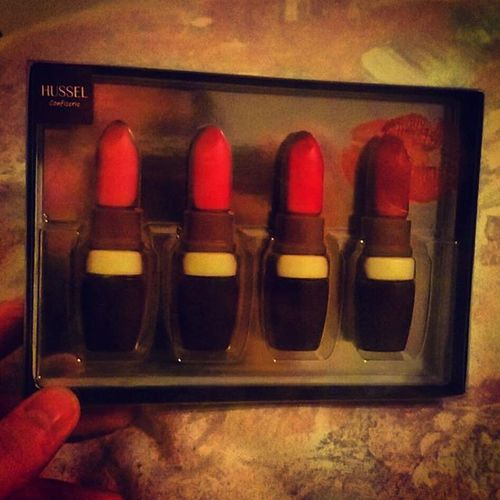 Schokoladenlippenstifte 💗👌Lipstick Lips Chocolate Chocolat Schoko Love LipstickJungle Hussel Thank You Present