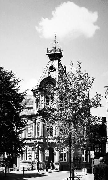 Blackandwhite Photography Architecture Black & White Bluesky Black And White TreePorn Architectureporn Town