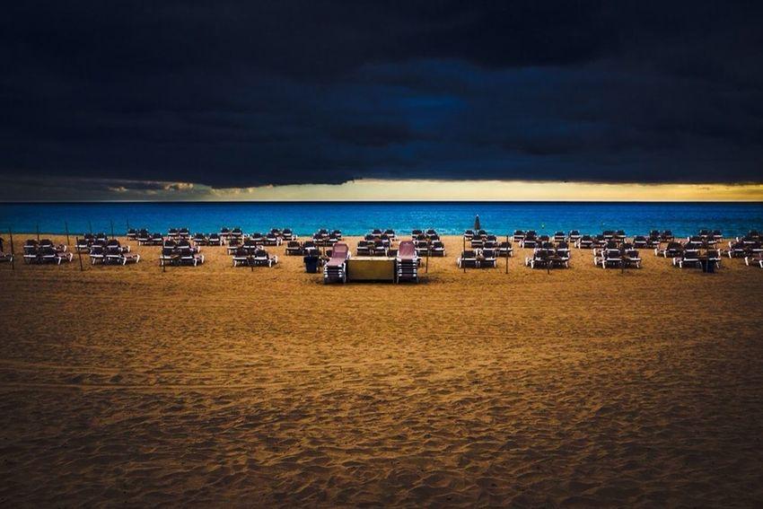 Corralejo Beach Ocean Clouds Emptyness