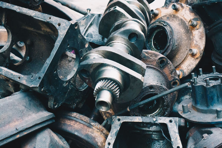 Metal Machinery Machine Part Old No People Rusty Close-up Industry Connection Equipment Obsolete Transportation Technology Engine Abandoned Mode Of Transportation Decline Deterioration Day Damaged Outdoors Manufacturing Equipment Wheel Garage