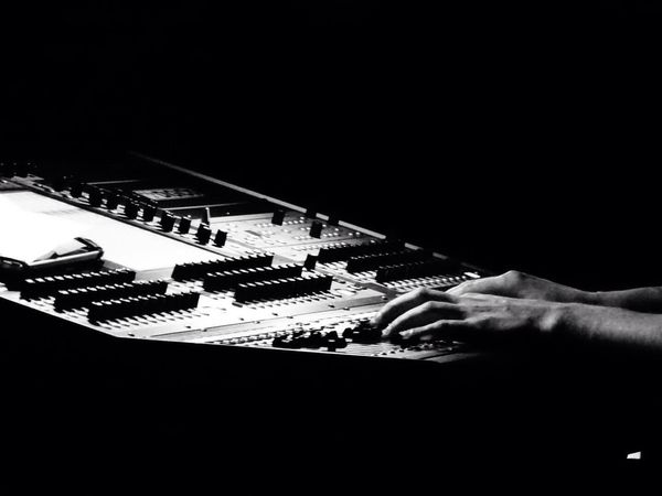 The Purist (no Edit, No Filter) Hand Show Me Your Hand Darkness And Light The Fan Club Electronic Music Shots Hands At Work Festival Season Monochrome Photography Monochrome