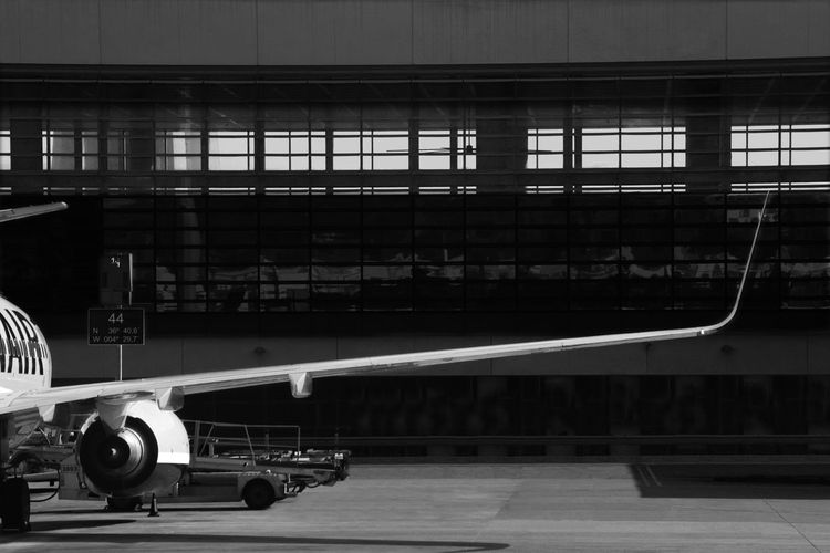 View of airplane at airport