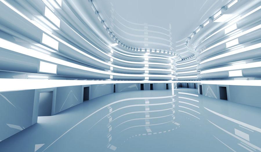 Full frame shot of illuminated modern building