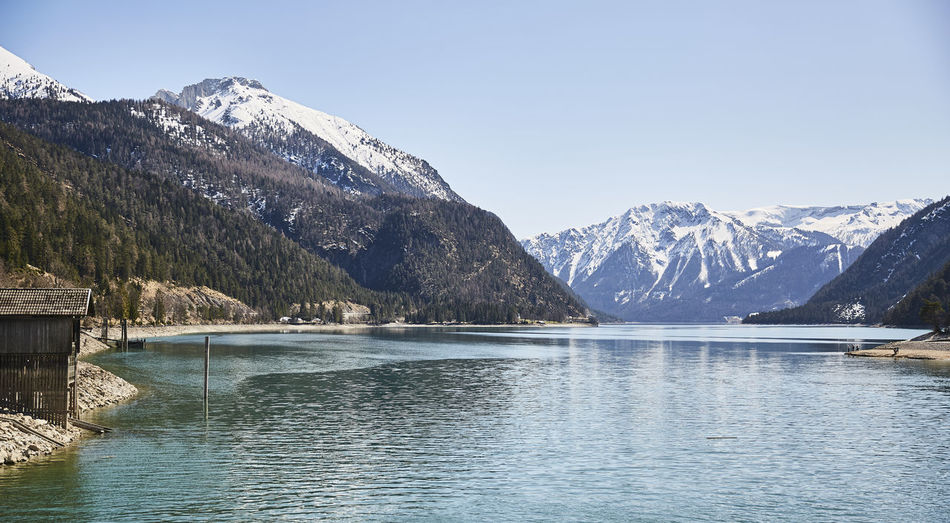 Mountain and Lake Mountain Water Scenics - Nature Beauty In Nature Mountain Range Cold Temperature Winter Waterfront Tranquil Scene Sky Nature Lake Tranquility Day No People Snow Snowcapped Mountain Non-urban Scene Outdoors Mountain Peak Range Achensee Achensee Austria