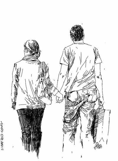 Friends Drawing Sketch Kaay