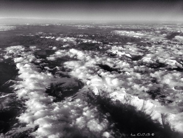 a peek at some peaks as I was landing yesterday in Denver Abcproject 10/2013 Cloudporn Bw_collection Plane Shots
