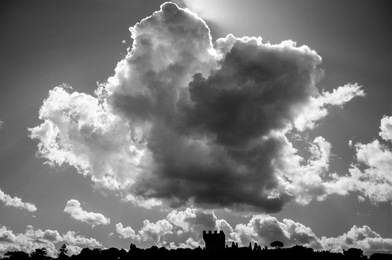 Beauty In Nature Blackandwhite Cloud - Sky Day Florence Low Angle View Nature No People Outdoors Sanniccolo Scenics Sky Sky Only Tranquility