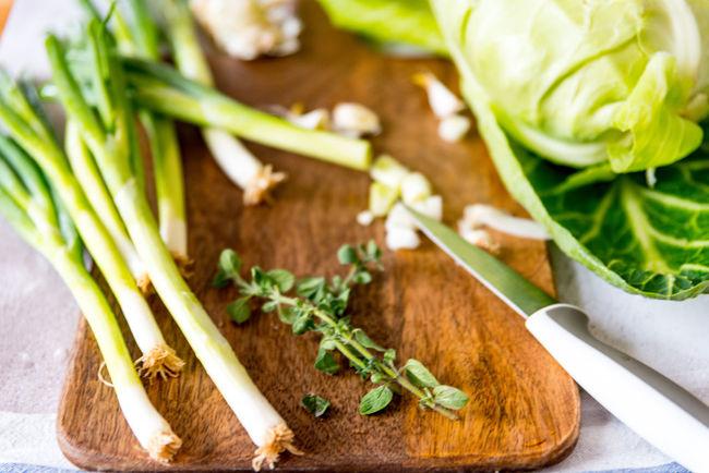 Freshness Garlic Plant Food Leaf Leaves Preparation  Vegetable