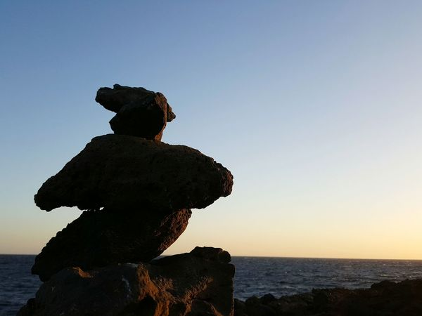 Silhouette Sea Beach Beauty In Nature Day Sunrise Fuerteventura