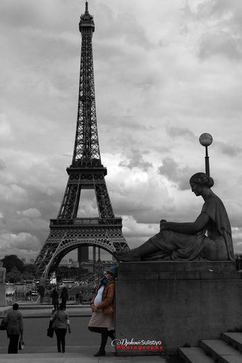 The Color Of Black-white Eiffel Tower
