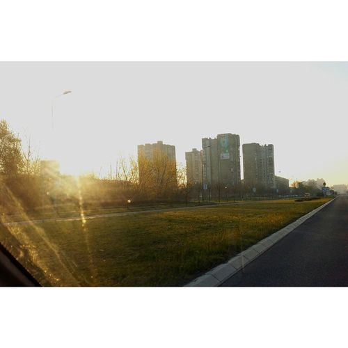 Ig_nbg Novibeograd Road Sunrise nature street city