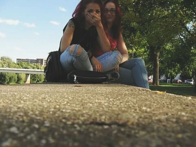 First Eyeem Photo Red Hair Friend Green Relaxing