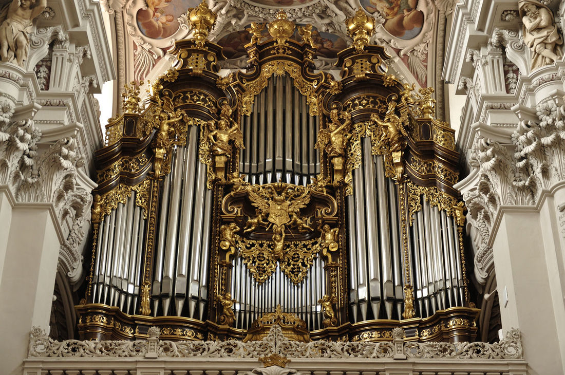 Architecture Arts Culture And Entertainment Baroque Style Day Dom St. Stephan Gold Colored History Indoors  Metal Music Musical Instrument Musical Theater  No People Pipe - Tube Pipe Organ Place Of Worship Religion Spirituality Symmetry Travel Destinations