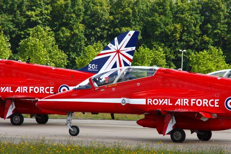 Airplane Flight Show Gilze Rijen 2014 The Red Arrows