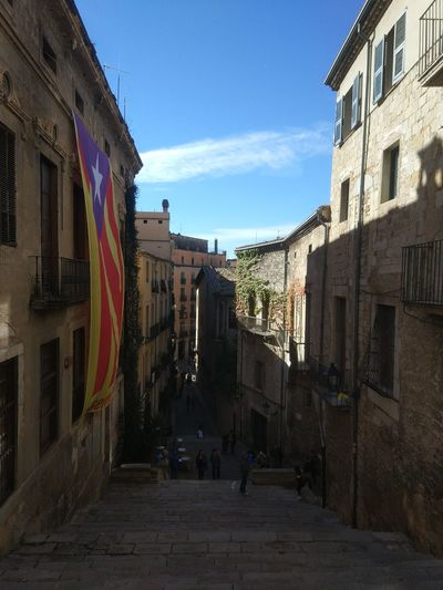 Girona Catalunya Catalonia Pujada De Sant Martí City Cityscape Sky Architecture Building Exterior Old Town