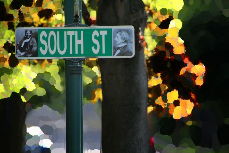 Outdoors Text Road Sign Close-up Historic Historical Monuments History Through The Lens  Seward Tubman Artphotography Harriet Tubman
