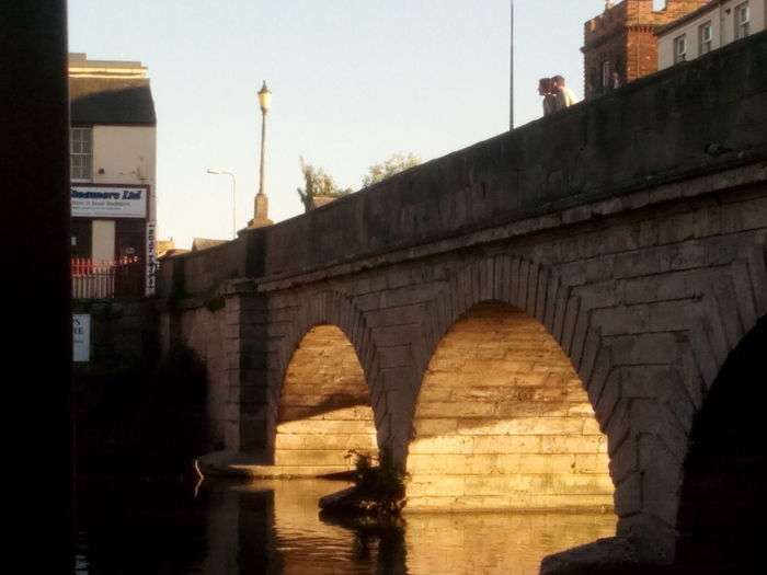 Evening light, Folly bridge, Oxford Warm Light Thoughtful Moments Orange Light Arches Urban Tranquility Oxford River Isis City Bridge - Man Made Structure Business Finance And Industry Arch River Cityscape History Sky Architecture Built Structure Arch Bridge Sunset