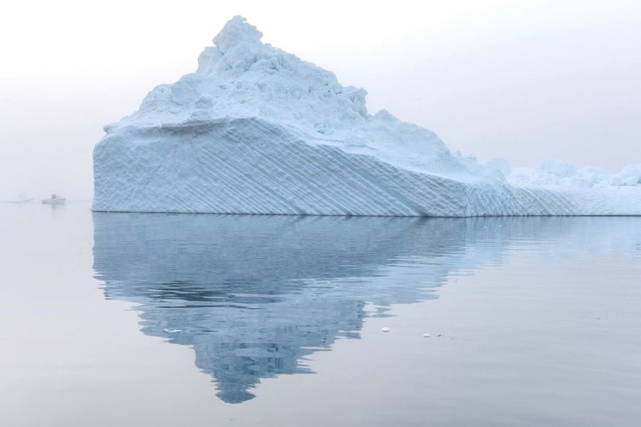 Reflection Nature Scenics Landscape Winter Ocean North Landscapes Landscape_photography Greenland Outdoors Glaciers Frozen Ice EyeEm Nature Lover Greenland,ilulissat Boat Ilulissat Iceberg, Fog Foggy Foggy Weather Summernight