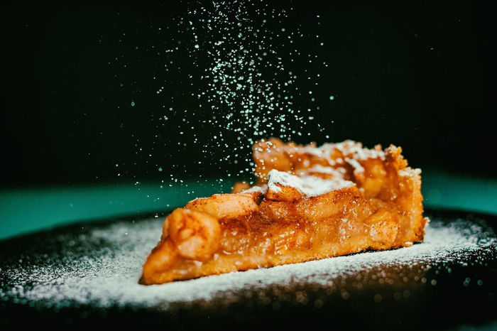 Apple Tart Temptation Apple Pie Black Background Close-up Focus On Foreground Food Food And Drink Foodphotography Freshness Fried Healthy Eating Indoors  Indulgence No People Plate Ready-to-eat Selective Focus Serving Size Still Life Studio Shot Sugar Sweet Sweet Food Temptation