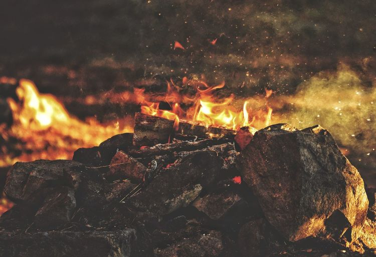 Bonfire Sunset Lakeside Autumn Naturelovers Outdoor Life Rewilding Höst Naturelovers Burning Fire Flame Heat - Temperature Night Fire - Natural Phenomenon Glowing Nature Orange Color Motion No People Outdoors Environment Illuminated Bonfire Full Frame Capture Tomorrow Moments Of Happiness 2018 In One Photograph My Best Photo Humanity Meets Technology Analogue Sound