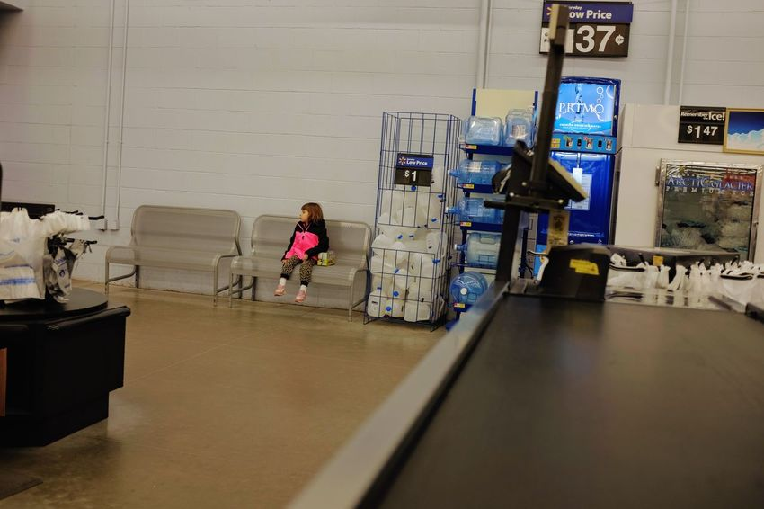 Visual Journal March 2017 Omaha, Nebraska Adult Airport Candid Portraits Chair Checkout Childhood Children Only Color Photography Day Department Store Everyday Lives EyeEm Gallery Full Length Hospital Indoors  MidWest People People Of Wal Mart Photo Diary Shopping Sitting Sitting Storytelling Two People Visual Journal