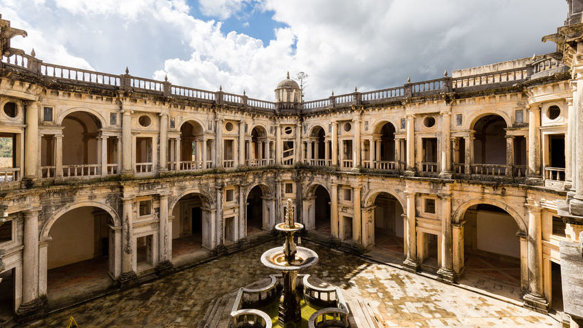 Convento de Cristo in Tomar, Portugal Arch Architecture Christo Convent Convento Convento De Cristo Cristo Famous Place History No People Old Outdoors Portugal Portuguese Ruins Sky Tomar Tomar, Portugal Tourism Travel Travel Destinations Unesco UNESCO World Heritage Site