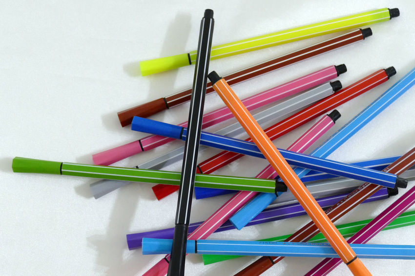 Artist Colored Coloring Pencils Isolated Paint Shape Art Backgrounds Close-up Colored Background Coloring Pen Crayon Drawing Drawings Equipment Heart Instruments Multi Colored No People Painting Painting Art Pen Pencil White Background
