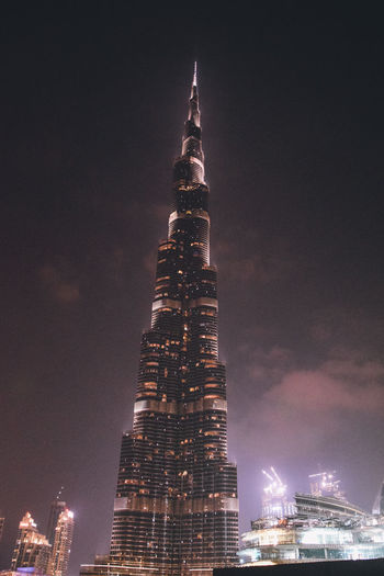Building Exterior Architecture Built Structure Night City Sky Office Building Exterior Illuminated Building Tall - High Tower Travel Destinations Skyscraper Nature Modern Cityscape No People Travel Office Outdoors Spire  Financial District  Luxury EyeEm Best Shots Burj Khalifa EyeEm Gallery