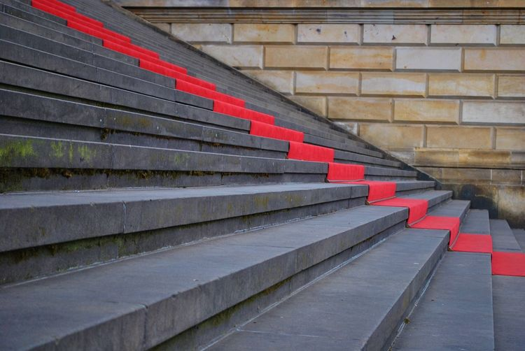 No People Outdoors Red Red Carpet Roter Teppich  Stairs Steps And Staircases Treppen